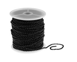 1m Black Ball Chain Closed Link Peline Chains 2mm