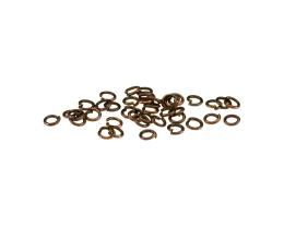 50 Jump Rings Antique Copper Open Jump Rings 4mm