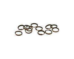 50 Split Rings Antique Copper Split Jump Rings 7mm