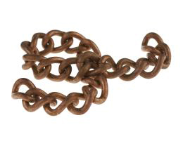 10cm Vintage Copper Plated Curb Chain Twisted 9mm