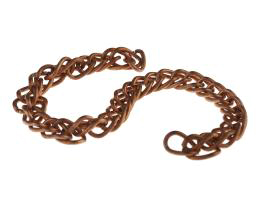 10cm Vintage Copper Plated Double Link Chain 6mm