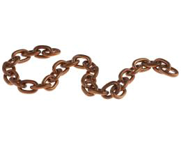 10cm Vintage Copper Plated Cable Chain 6mm x 8mm