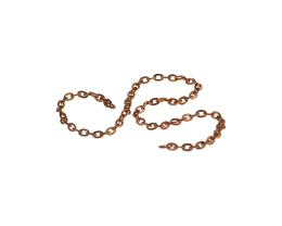 10cm Vintage Copper Plated Cable Chain Open 1.5mm