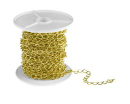 1m Gold Plated Curb Chain Open Link 4.8mm x 7.1mm