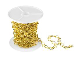 1m Gold Plated Cable Chain Open Link 6mm x 8mm