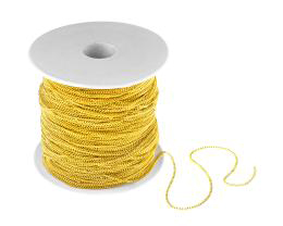 1m Gold Curb Chain Open Trace Link Chains 1.2mm
