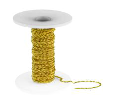 1m Gold Curb Chain Open Link Trace 1.5mm x 2mm