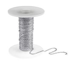 1m Silver Plated Rope Chain Open 1.5mm x 2mm