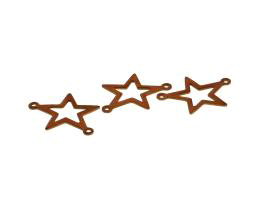 1 Vintage Connectors Copper Plated Star Charm 20mm