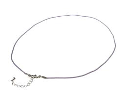 1 Choker Necklaces Lilac Waxed Cotton Cord 17 inch