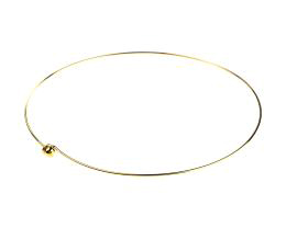 1 Choker Necklaces Gold Plated Wire 17 inches