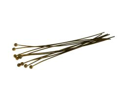 50 Ball Head Pins Bronze Headpins 50mm x 0.5mm