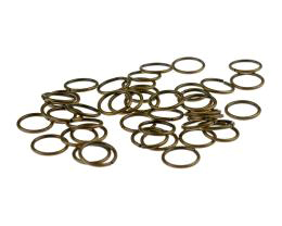 50 Jump Ring Bronze Open Jump Ring 10mm