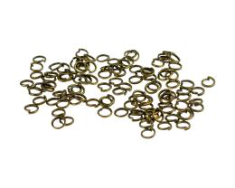 50 Jump Rings Bronze Open Jump Ring 4mm
