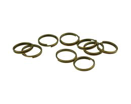 50 Split Rings Bronze Split Jump Ring 10mm