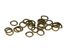 50 Jump Rings Bronze Open Jump Ring 8mm