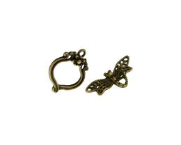 1 Toggle Clasps Bronze Dragonfly Clasp 22mm