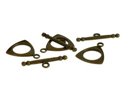 1 Toggle Clasps Bronze Triangle Ring And Bar 19mm