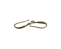 2 Shepherds Crook Earwires Bronze Hook 19mm