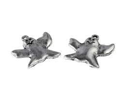 1 Metal Charms Silver Halloween Ghost Charm 23mm