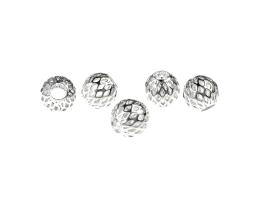 1 Metal Beads Silver Plated Filigree Bead 8.5mm