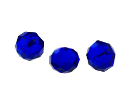 1 Crystal Beads Cobalt Glass Rondelle Bead 12mm