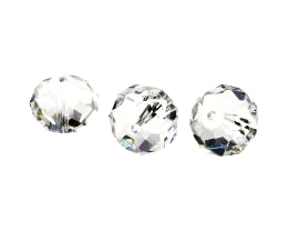1 Crystal Beads Clear Glass Rondelle Bead 12mm
