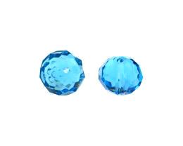 1 Crystal Beads Aqua Blue Glass Rondelle Bead 12mm