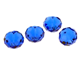 1 Crystal Beads Sapphire Glass Rondelle Bead 12mm