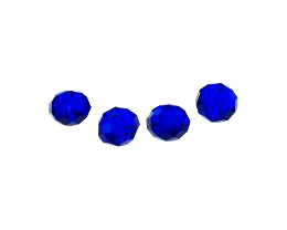 5 Crystal Beads Blue Glass Rondelle Bead 7mm