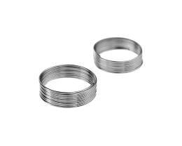 9 Memory Wire Coils Ring Making Silver Colour 20mm