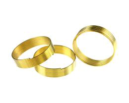 9 Memory Wire Coils Ring Making Gold Colour 20mm