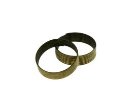 9 Memory Wire Coils Ring Making Bronze 20mm