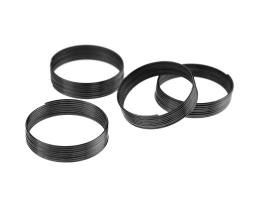 9 Memory Wire Coils Ring Making Gunmetal 20mm