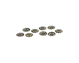 50 Bead Caps Bronze Flower Bead Cap 8mm