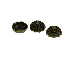 10 Bead Caps Bronze Textured Bead Cap 14mm