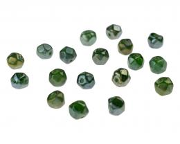 10 Glass Beads Emerald Lustre Faceted Bead 7mm