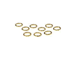 10 Jump Rings Gold Plated Closed Jump Ring 7.5mm