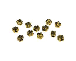20 Acrylic Beads Antique Gold Flower Bead 5mm