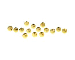 25 Metal Beads Gold Round Stardust Bead 5mm
