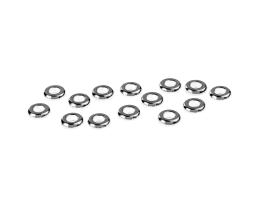 25 Metal Beads Silver Plated Washer Bead 6mm