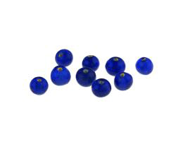10 Vintage Lampwork Glass Beads Cobalt Blue 6mm