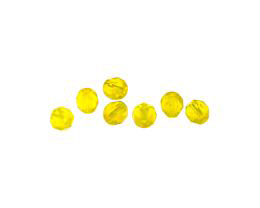 20 Czech Glass Beads Citrine Faceted Bead 6mm