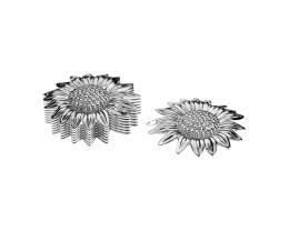 1 Metal Charms Silver Sun Flower Charm 23mm