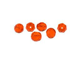 10 Czech Glass Beads Hyacinth Orange Rounds 8mm