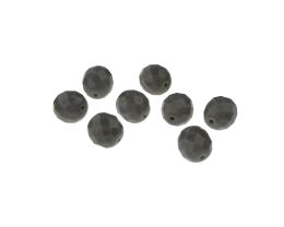 10 Czech Glass Beads Grey Opaque Fire Polished 8mm