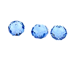5 Crystal Beads Sapphire Glass Rondelle Bead 10mm