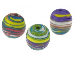 1 Handmade Polymer Clay Beads Sweetie Stripes 20mm