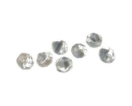 20 Czech Glass Beads Clear Grey Givre Bead 8mm