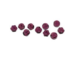 20 Czech Glass Beads Amethyst Melon Bead 6mm